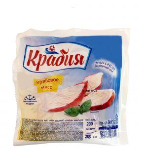 Мясо крабовое имитация 200 гр замор. Крабия