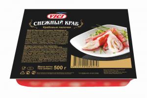 """КП-97 Краб.пал. """"Снежный краб"""" красный 500 г"""