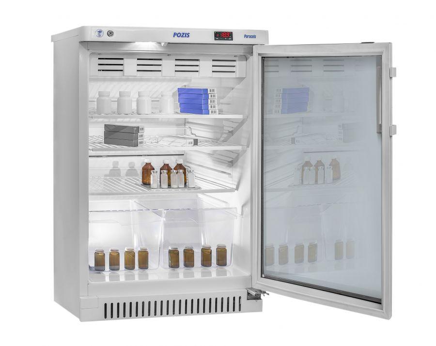 Фармацевтический холодильный шкаф Pozis ХФ-140-1 тонированное стекло