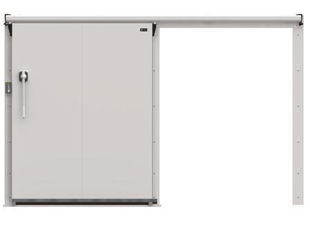 Дверные блоки Ирбис ОД(КС)-1000.1800 среднетемп. (80 мм)