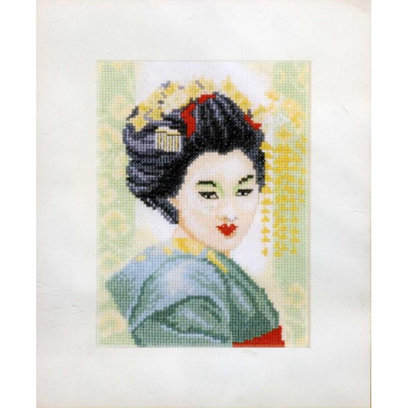 """Набор для вышивания  LANARTE """"Geisha"""" (Гейша маленькая) 11104А (PN-0008201)"""