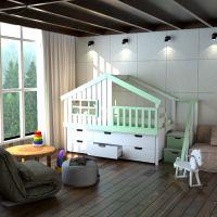 Кровать-чердак Домик Calipso Factory №15