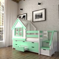 Кровать-чердак Домик Factory №12