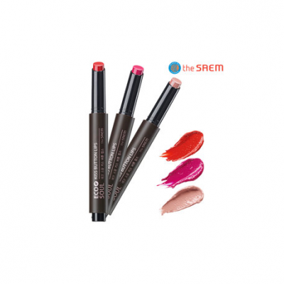 Помада для губ The Saem Eco Soul Kiss Button Lips Forever 2,2гр
