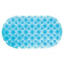 Антискользящий коврик с присосками для ванной Ромашки, голубой