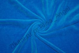 Темно-синий велюр отрез 0,78м (дырочка на расстоянии 35см от кромки)
