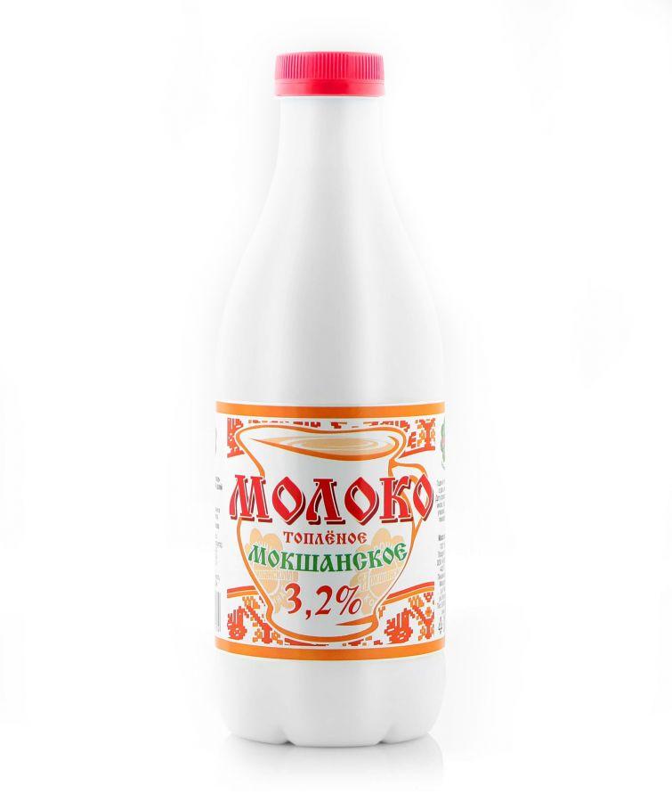 """Молоко """"Мокшанское"""" топлёное 3,2%. 930 гр"""