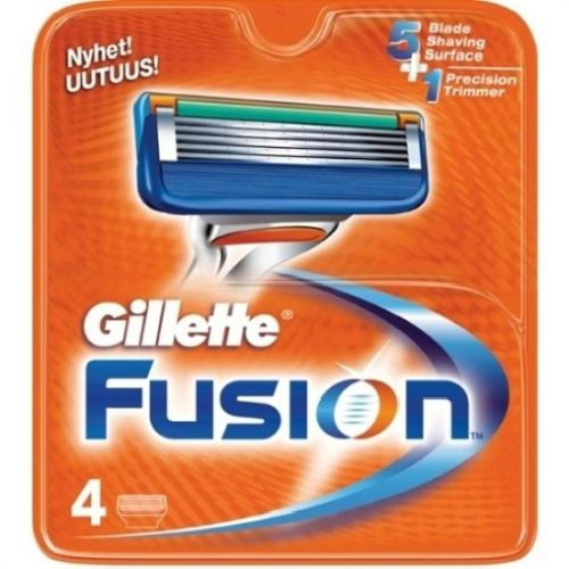 Gillette Fusion сменные кассеты для бритья, 4 шт.