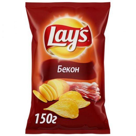 Чипсы Lays со вкусом бекона 150г