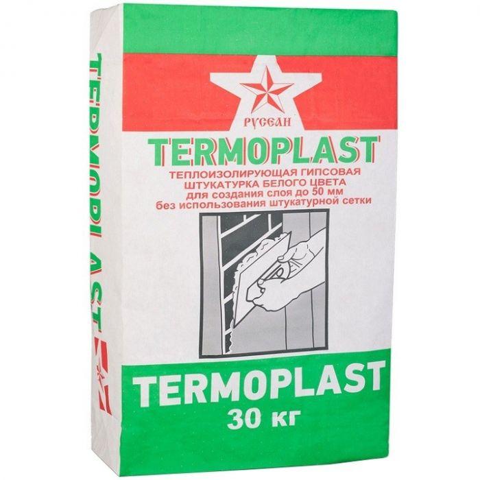 Штукатурка гипсовая теплоизоляционная Русеан Термопласт (белая), 30 кг