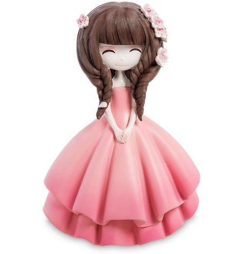 """Копилка средняя """"Девочка в розовом платье"""""""