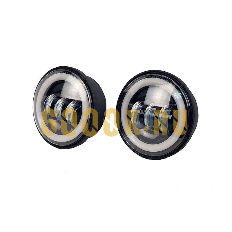 Светодиодные ПТФ 4,5 дюйма по 30 Вт с кольцом Halo ДХО и поворотниками