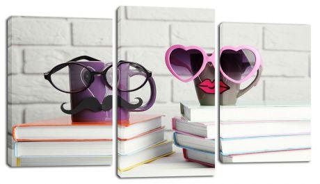 Модульная картина Кружки на книгах