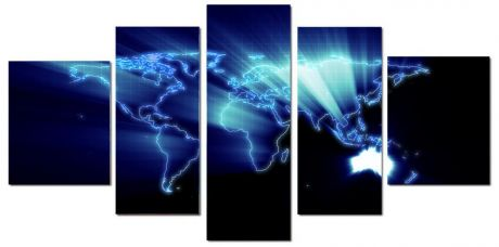 Модульная картина Континенты