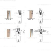 Комплект фурнитуры Krona Koblenz 0600-80/120 на 1 дверь до 80/120 кг