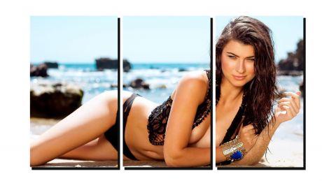 Модульная картина Девушка на пляже
