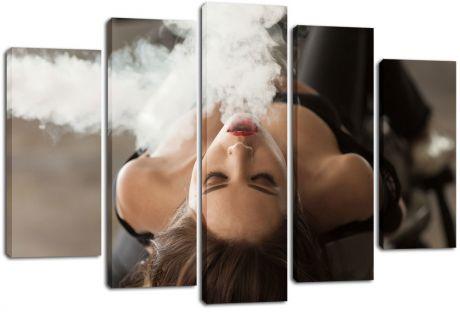 Модульная картина Девушка в дыму