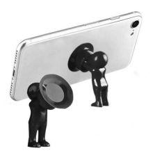 Настольный держатель мобильного телефона 3D-MANstand, Цвет: Чёрный