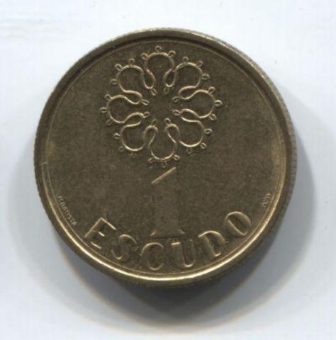 1 эскудо 1987 года Португалия XF