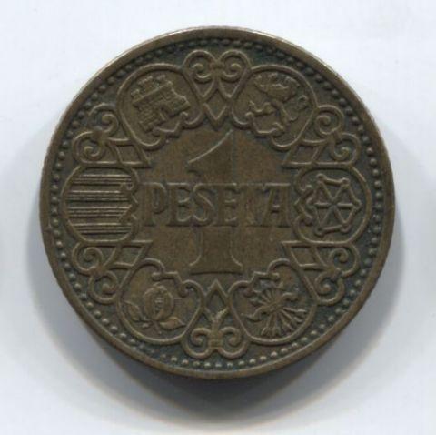 1 песета 1944 года Испания