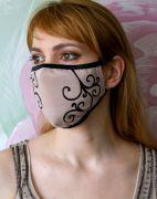 Женская дизайнерская маска из хлопка
