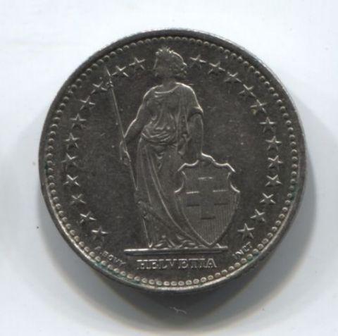 1/2 франка 1992 года Швейцария