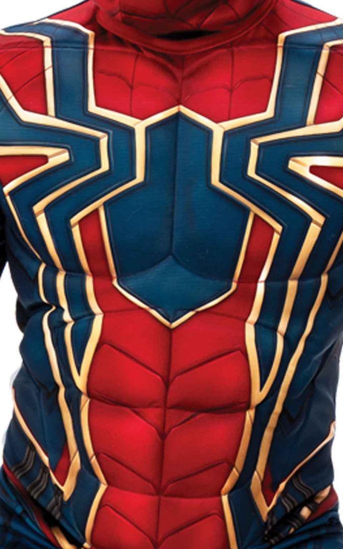 Детский костюм крутого Спайдермена с мышцами