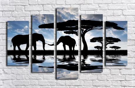 Модульная картина Животные 7