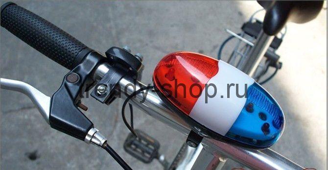 Полицейская сирена-гудок для велосипеда со светодиоидами Police Car Light Trumpet
