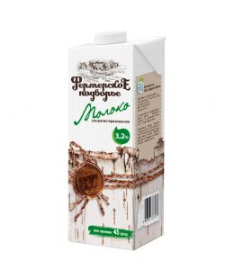 Молоко ФЕРМЕРСКОЕ ПОДВОРЬЕ 3,2% Edge 1л