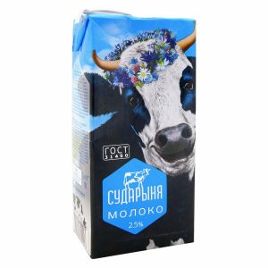 Молоко СУДАРЫНЯ 2,5% 1л