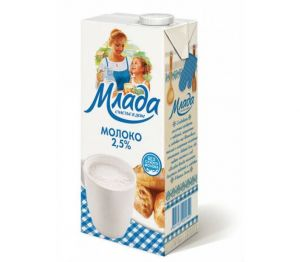 Молоко МЛАДА 2,5% 1л