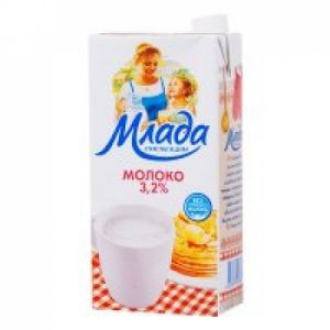 Молоко МЛАДА 3,2% 1л