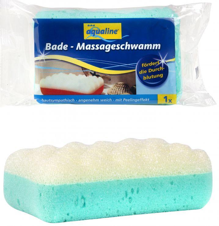 Aqualine Губка для тела мягкая с массажным эффектом 1 шт