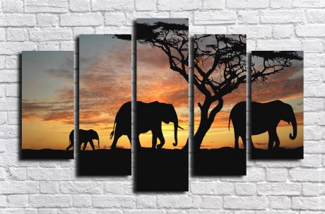 Модульная картина Животные 32
