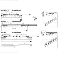 Комплект фурнитуры Krona Koblenz 0600-80 ABS на 1 дверь до 80 кг с доводчиком. схема