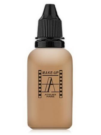Make-Up Atelier Paris HD Fluid Foundation Gilded AIR4Y Yellow honey Тон-флюид водостойкий для аэрографа 4Y золотистый