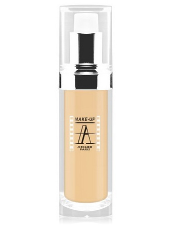 Make-Up Atelier Paris Fluid Foundation Gilded FLW1Y Yellow clear Тон-флюид водостойкий 1Y бледно-золотистый