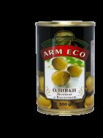 Зел. Оливки с косточкой АRM ECO 300гр
