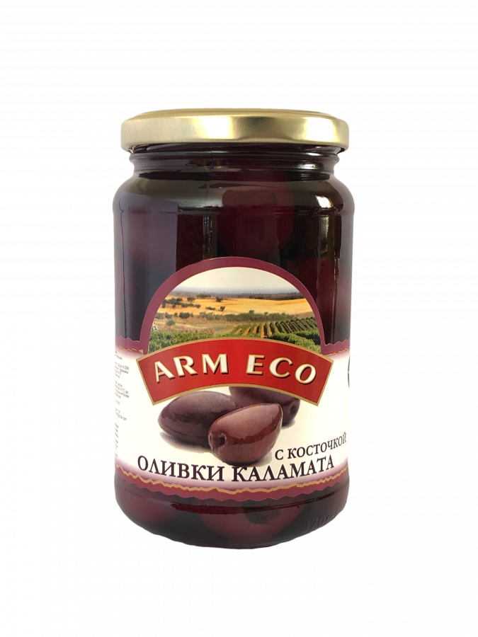Оливки с косточкой Каламата ARM ECO 1,020 кг