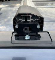 Багажник на крышу Honda CR-V (2007-11), Lux Bridge, крыловидные дуги (серебристый цвет)