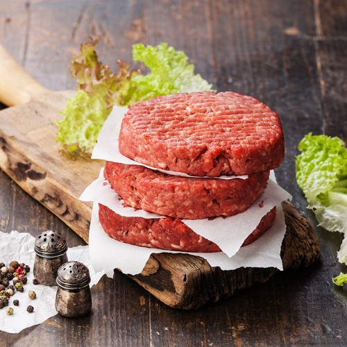 3 бургера из мраморной говядины (1 штука/150г, цена за 3 штуки)