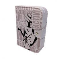 Шкатулка-книжка для ювелирных изделий, 14х5х20 см., сиреневый