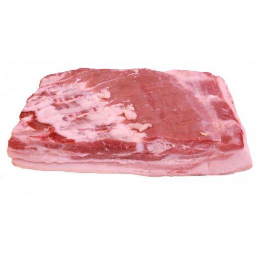 Свинина грудинка на кости с кожей (1 кг)