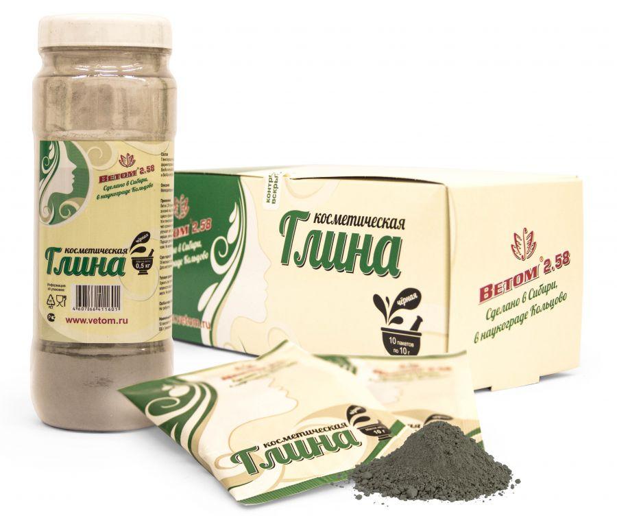 Косметическая глина черная (пакетик 10г)