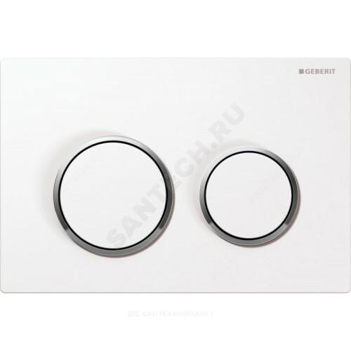 Кнопка для инсталляции Omega 20 бел/хром глянц механ Geberit 115.085.KJ.1
