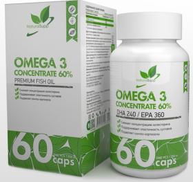 Omega-3 (концентрат 60%) от NaturalSupp 60 кап