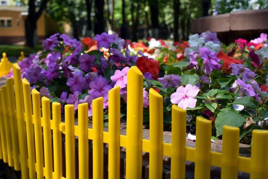 Забор декоративный №8, 1 секция, цвет Желтый