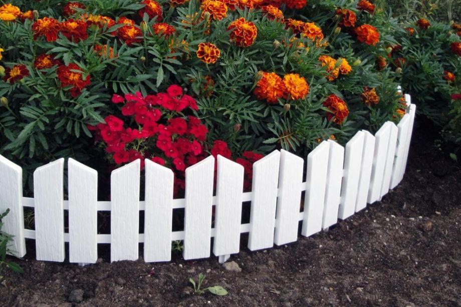 Бордюр Летний сад 16х300 см, 7 секций, цвет Белый