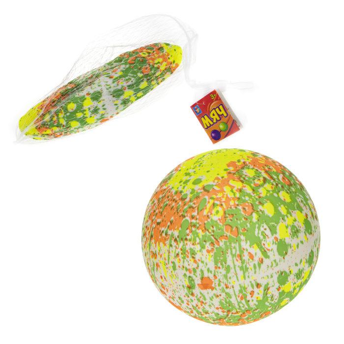 ПВХ мяч с абстрактным рисунком 23 см, 60 г, цвета в ассортименте